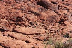 Roche escarpée à la gorge rouge de roche à Las Vegas image stock