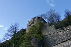 Roche et château de Dumbarton photos libres de droits