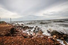 Roche et mer Photo libre de droits