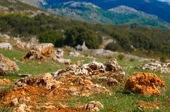 Roche et montagne Photos libres de droits