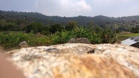 Roche et montagne Photo libre de droits