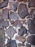 Roche et mur en béton Image libre de droits