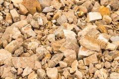 Roche et pierre avec le fond de sol Photos libres de droits