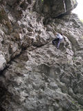 Roche-grimpeur Photographie stock libre de droits