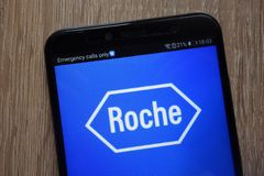 Roche Group logo displayed on a modern smartphone stock images