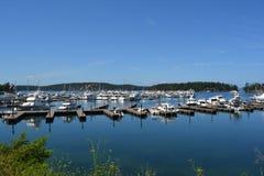 Roche Harbor marina, Washington. Marina at Roche Harbor, Washington in daylight stock image