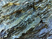Roche humide, formations en pierre image libre de droits