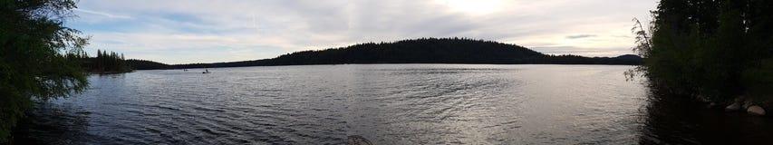Roche lake. Beautiful panoramic lake shot Stock Photography