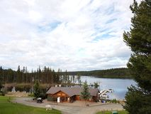 Roche lake. Midafternoon look at resort Stock Images
