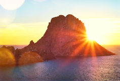 Roche magique d'Ibiza Images libres de droits