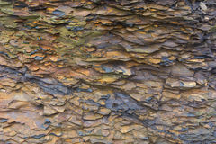 Roche minérale de schiste trouvée aux falaises de Moher, comté Clare, Irlande Images stock