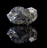 Roche noire de charbon Images stock