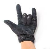Roche noire de gants de moto vous Images stock