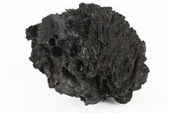roche noire de lave Photographie stock