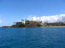 Roche noire - Maui, Hawaï Photographie stock