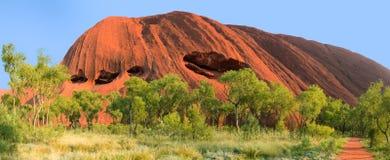 Roche ou Uluru à l'intérieur Australie d'Ayer Photo libre de droits