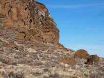 Roche rocailleuse de fort photos stock