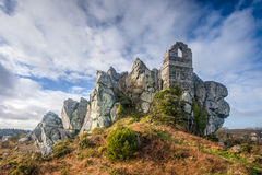 Roche Rock Cornwall England. Ruins of St Michaels Chapel on the granite outcrop known as Roche Rock mid Cornwall England UK Europe Stock Image
