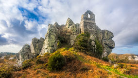 Roche Rock Cornwall England. Ruins of St Michaels Chapel on the granite outcrop known as Roche Rock mid Cornwall England UK Europe Stock Photography