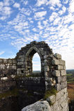 Roche Rock. The ruined chapel at Roche rock against a blue sky Royalty Free Stock Image
