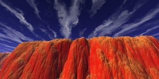 Roche rouge Photographie stock libre de droits