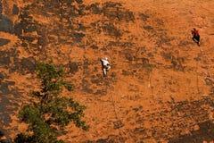 roche rouge s'élevante Image libre de droits