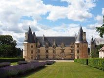 Roche-Schloss am Sommer, Vienne, Frankreich. Stockbilder