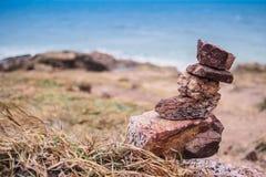 Roche sur la mer Photographie stock libre de droits