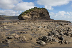 Roche sur une plage Photo libre de droits