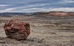 Roche volcanique Lava Field - en Islande vides Image stock