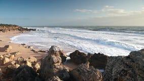 Roche zatoczka Conil Cadiz Hiszpania zbiory wideo