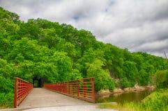 Rocheport tunel na Katy śladzie Wzdłuż Missouri rzeki zdjęcia royalty free