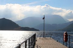 Rocher Cumbria de St dimanche d'Ullswater de pilier de force d'Aira Image stock