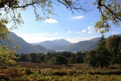 Rocher de St dimanche et secteur anglais de lac Ullswater Image libre de droits