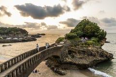 Rocher du Basta, Biarritz, Frankreich lizenzfreies stockfoto