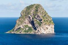 Rocher du Diamant Diamond岩石在马提尼克岛 免版税库存图片