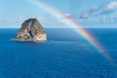 Rocher du Diamant Diamond岩石在马提尼克岛 图库摄影