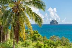 Rocher du Diamant Diamond rock in Martinique Stock Photo