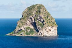 Rocher du Diamant Diamond rock in Martinique. Royalty Free Stock Images