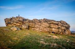 Rocher Harrogate d'Almscliffe Photos libres de droits
