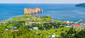 Rocher Perce, Quebec royaltyfri foto