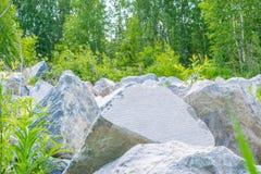 Rochers à la forêt Image libre de droits