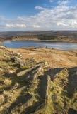 Rochers érodés sur la bruyère de Yorkshire Photographie stock libre de droits