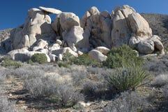 Rochers dans le désert Photo libre de droits