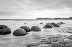 Rochers de Moeraki Photographie stock