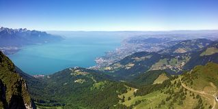 He Rochers de Naye are a mountain of the Swiss Alps, overlooking Lake Geneva. The Rochers de Naye French, lit. `rocks of Naye`; 2,042 metres 6,699 ft are a royalty free stock images