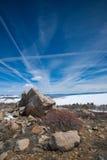 Rochers sur la crête de montagne Images libres de droits