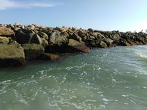 Roches à la plage de Venise la Floride Images libres de droits