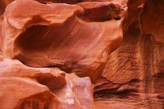 Roches à PETRA, Jordanie Photo libre de droits