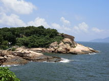 Roches étendues chez Cheung Chau Island Image libre de droits
